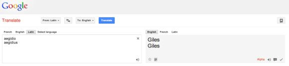 Source: screenshot of Google translate