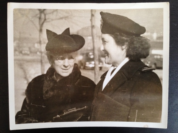 "Mary ""Minnie"" Greenwood (left) and her daughter Mary during World War II.  Source: family photo"